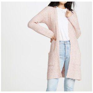 NEW BB Dakota Pink Belted Long Cardigan Sweater